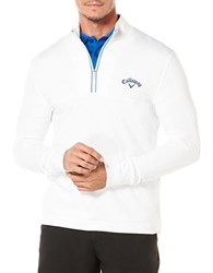 Callaway Golf Performance Waffle Fleece Pullover Bright White