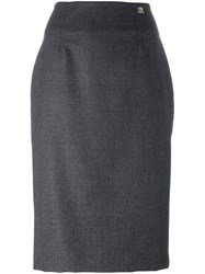Class Roberto Cavalli Pencil Skirt Grey
