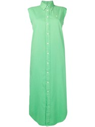 Ralph Lauren Sleeveless Shirt Dress Green