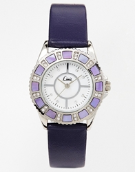 Limit Round Face Purple Watch Silver