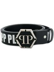 Philipp Plein Logo Print Belt White