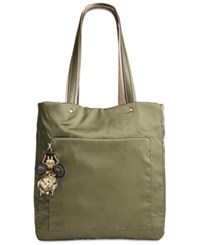 Steve Madden Booker Medium Satin Tote A Macy's Exclusive Style Olive