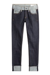Rag And Bone Mid Rise Slim Boyfriend Jeans Blue