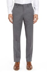 Bonobos Jetsetter Slim Fit Flat Front Solid Stretch Wool Trousers Grey