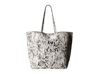 French Connection James Tote Black White Scribble Tote Handbags