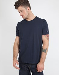 Champion Reverse Weave Crew Neck T Shirt Navy