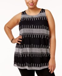 Alfani Plus Size Embroidered Shell Only At Macy's Deep Black