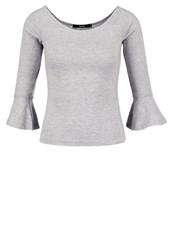 Bik Bok Long Sleeved Top Light Grey Melange