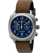 Briston 16140.S.C.15.Lvbr Clubmaster Classic Stainless Steel And Leather Watch
