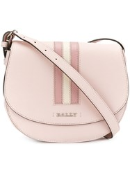 Bally Supra Cross Body Bag Women Calf Leather One Size Pink Purple