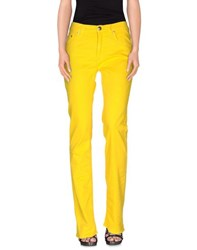 Blu Byblos Denim Denim Trousers Women Yellow