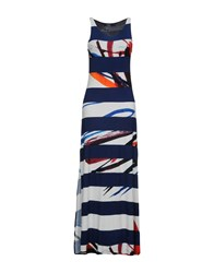 Desigual Long Dresses Dark Blue