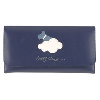 Radley Silver Lining Leather Matinee Purse Navy