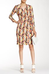 Anne Klein Impression Stripe Wrap Dress Multi