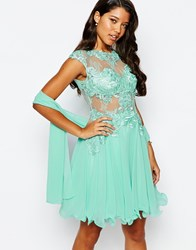 Forever Unique Lace Prom Dress Green