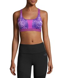 The North Face Stow N Go Sports Bra Purple A B Cup Purple Pattern