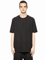 Silent By Damir Doma Paper Poplin And Stretch Jersey T Shirt