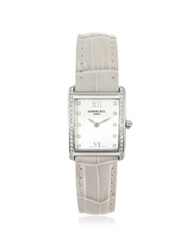 Raymond Weil Don Giovanni Diamond Frame And Satin Light Blue Band Dress Watch Beige