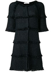 Charlott Frayed Edge Coat Blue