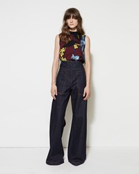 Marni Wide Leg Denim Trouser