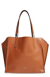 Lodis 'Blair Collection Anita' Leather Tote Brown Toffee Taupe