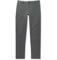 Freemans Sporting Club Slim Fit Brushed Cotton Twill Trousers Gray