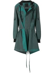 Lost And Found Ria Dunn Hooded Parka Coat Green