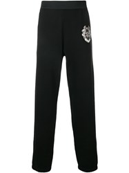 Roberto Cavalli Logo Patch Track Pants Black
