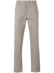 Brunello Cucinelli Five Pocket Trousers Men Cotton Spandex Elastane 58 Nude Neutrals