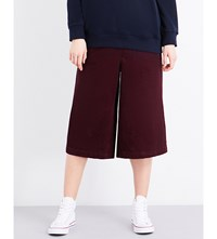 Chocoolate Wide Leg Corduroy Trousers Maroon