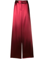 Bottega Veneta Wide Leg Pyjama Trousers Red