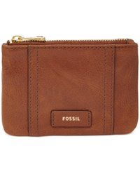 Fossil Ellis Leather Zip Coin Purse Brown