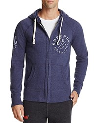 Superdry Surplus Goods Zip Hoodie Sweatshirt Brooklyn Blue