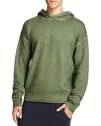Vince Wool Cashmere Pullover Hoodie Sweater Olive