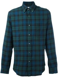 Aspesi Plaid Button Down Shirt Green