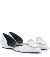 Roger Vivier Dorsay Sexy Choc Patent Leather Ballerinas White