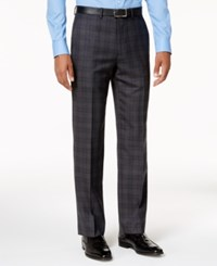 Ryan Seacrest Distinction Slim Fit Gray And Blue Plaid Pants Created For Macy's