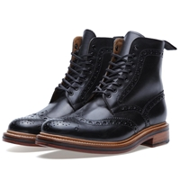 Grenson Fred Brogue Boot Black