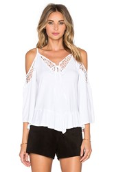 Vava By Joy Han Hollie Open Shoulder Top White