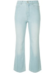 Tibi Cropped Jeans Blue