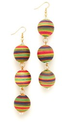 Holst Lee Sunrise Triple Ball Earrings Multi