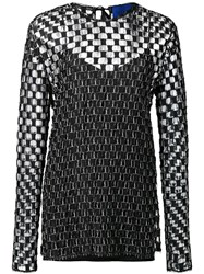 Sharon Wauchob Checked Transparent Blouse Black