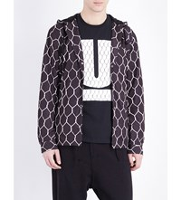 Undercover Fence Print Shell Jacket Black