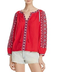 Beltaine Betlaine Embroidered Peasant Blouse