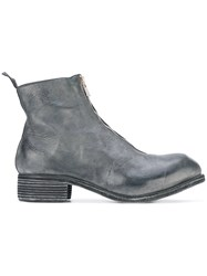 Guidi Front Zip Boots Men Horse Leather Leather 45 Grey