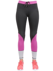 Freddy Techno Jersey Fitness Leggings Grey Fuchsia
