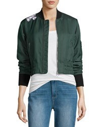 Elizabeth And James Ancel Long Sleeve Quilted Moto Jacket Green