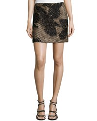 J. Mendel Embroidery Mini Skirt Noir