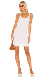David Lerner Aiden Mini Dress In Ivory. White And Tan Speckle