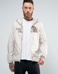 The North Face Logo Hooded Jacket Drew Peak Windwall In Off White Rainy Day Ivory